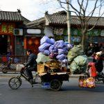 Ad alto carico nelle strade di Pechino